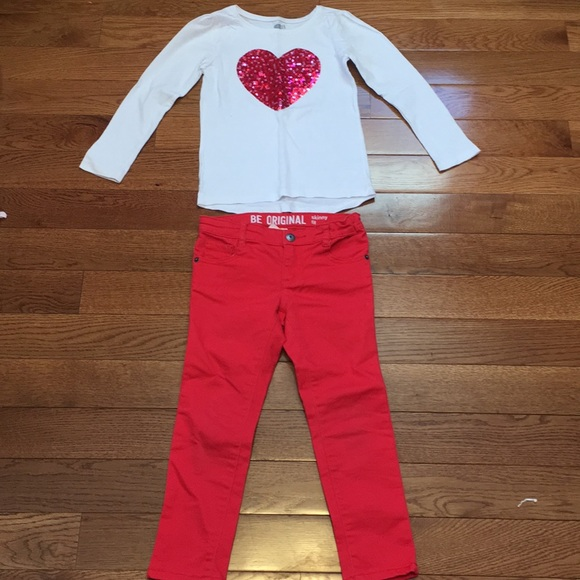 NWT Crazy 8 Girls Size 4T 5T Turquoise Long Sleeve Star Tee /& Leggings 2-PC SET